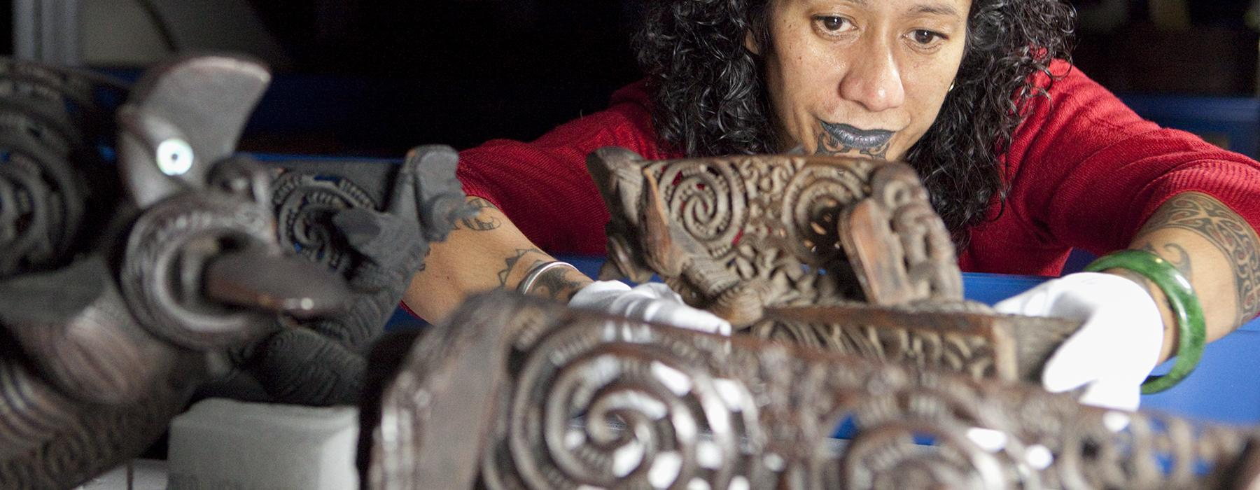 A lady caring for Caring for Taonga Māori
