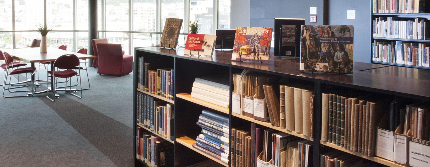 Te Aka Matua Research Library. Photograph by Kate Whitley. Te Papa
