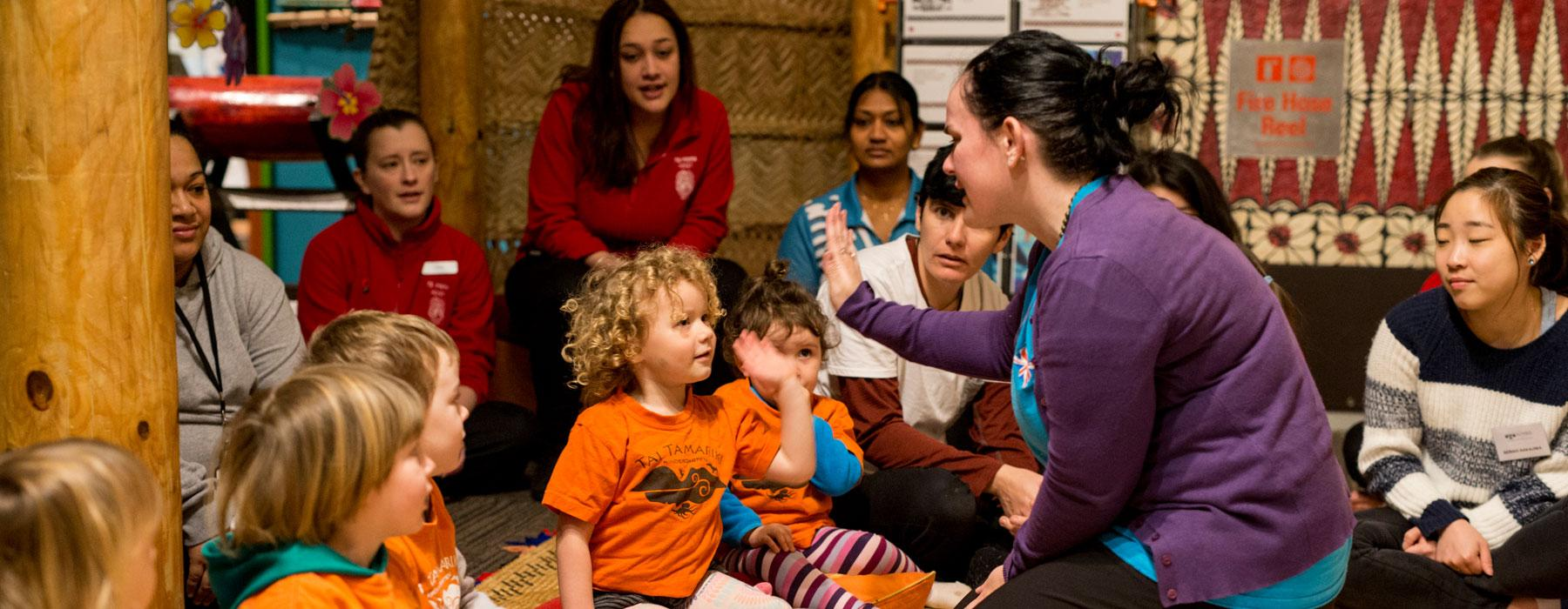 ECE visit to Planet Pasifika, 2015. Photograph by Michael Hall. Te Papa