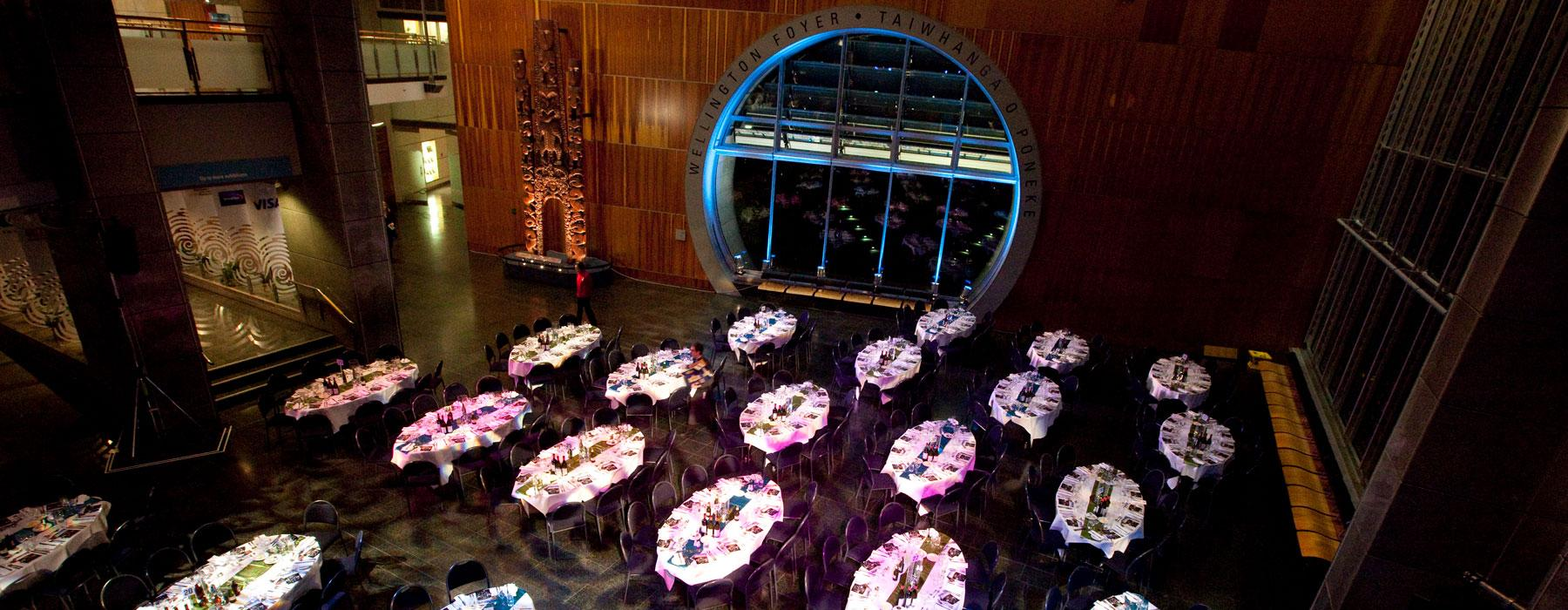 Wellington Foyer venue set up for an event