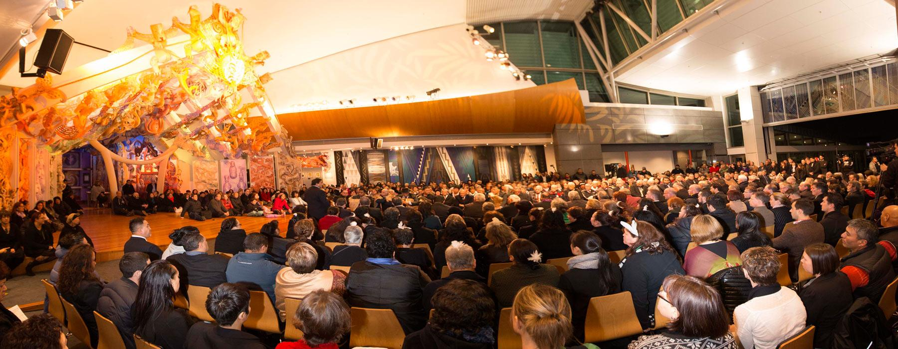 Ngāti Toa opening ceremony, 2014. Photograph by Norm Heke. Te Papa
