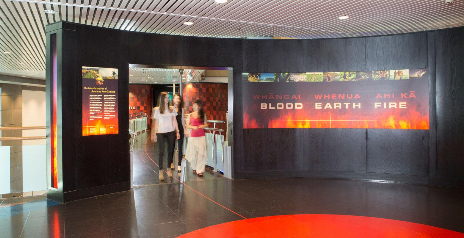Blood Earth Fire exhibition entrance
