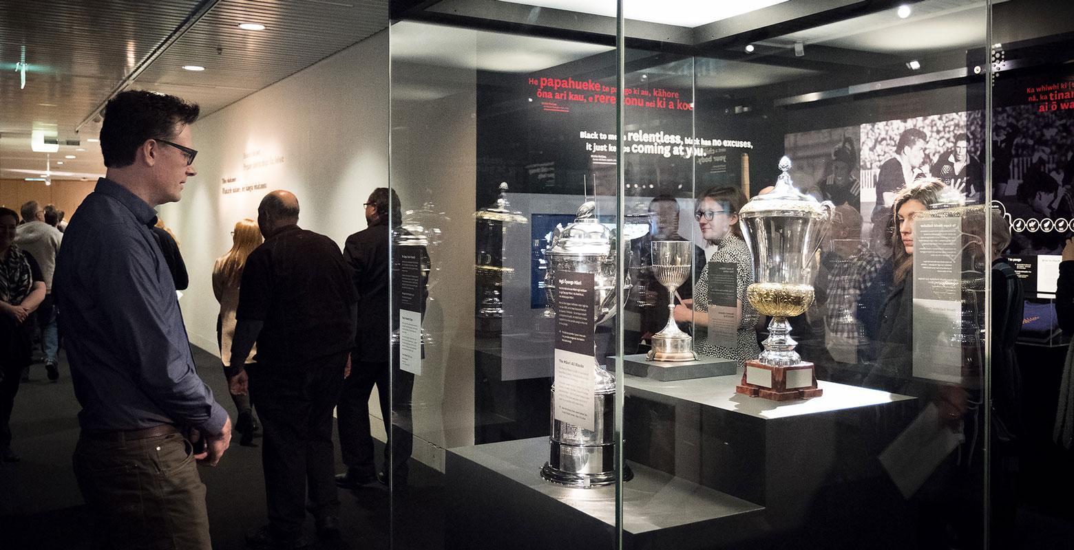 Trophies on display