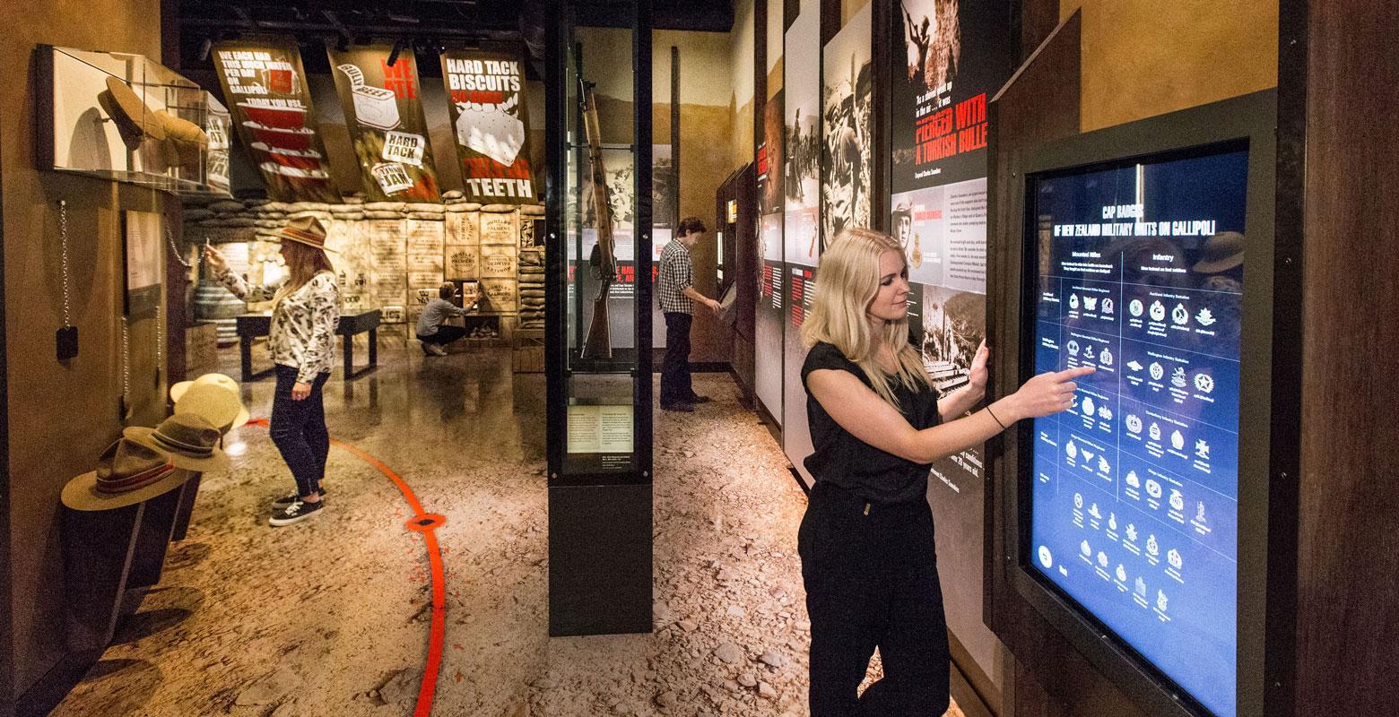 Visitors exploring Gallipoli exhibition