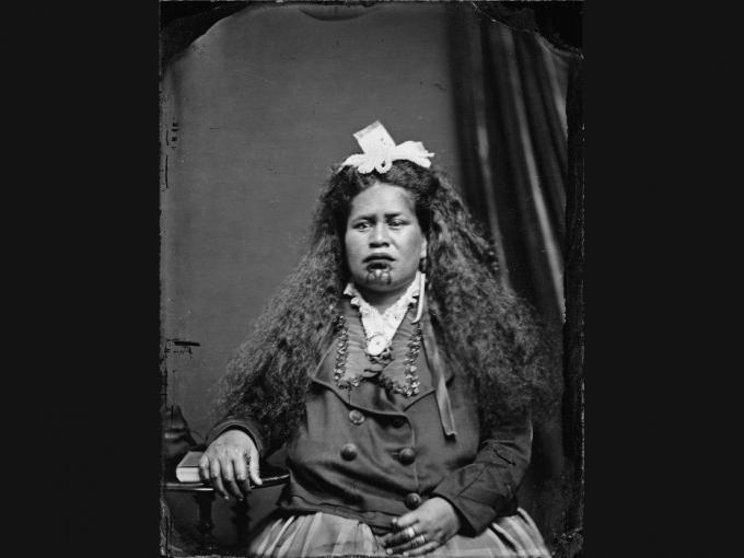 Photograph of Ākenehi Pātoka in the 1870s