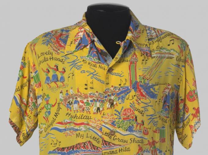 Yellow aloha shirt