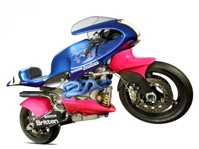 Britten V1000 motorcycle, 1991, Christchurch, by Britten Motorcycle Company Ltd. Purchased 1995 with New Zealand Lottery Grants Board funds. Te Papa (T000649)