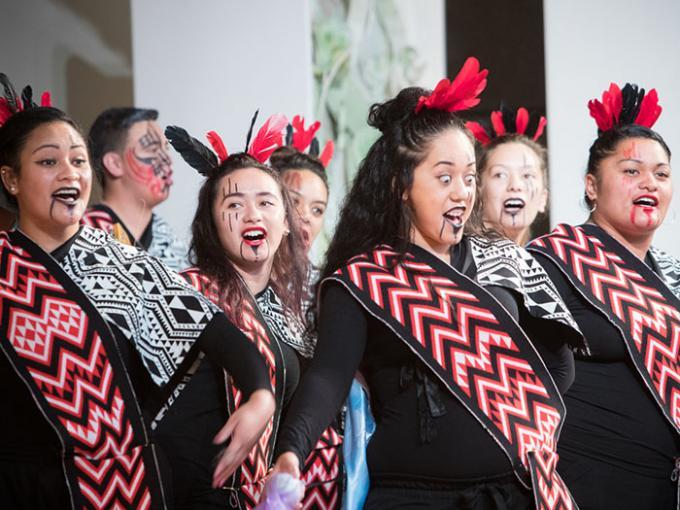 Women perform in a Kapa Haka