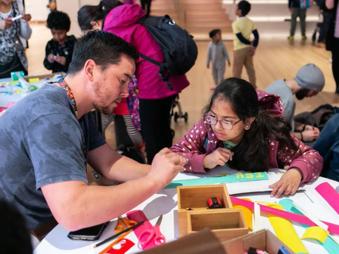 Kids doing craft