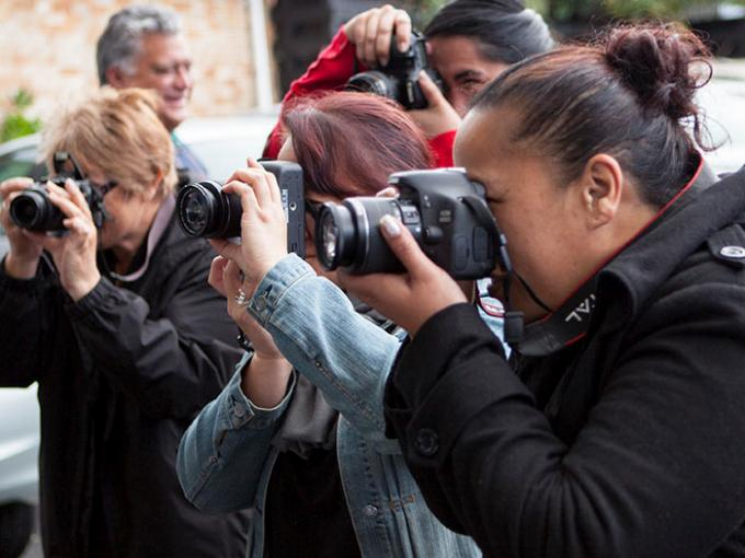 Digital photography training in progress