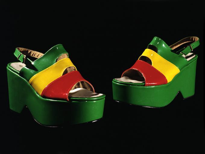 Colourful ladies platform shoes