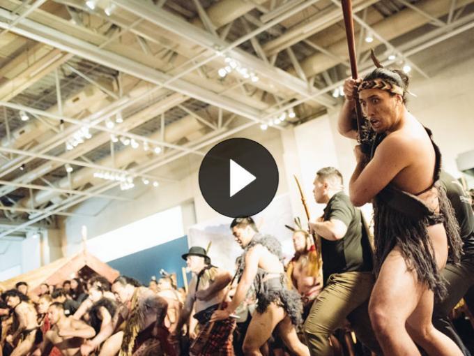 A group perform a haka