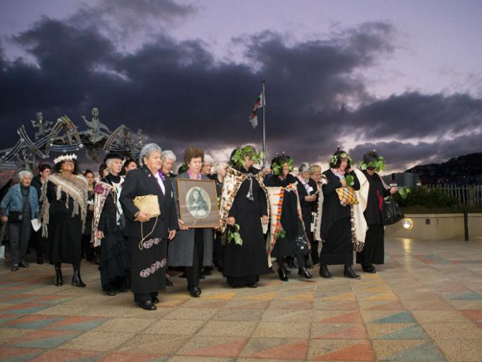 Gallipoli opening ceremony, 2015. Photograph by Kate Whitley. Te Papa