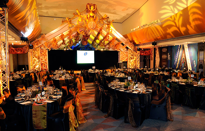 Te Marae - Formal dinner set up