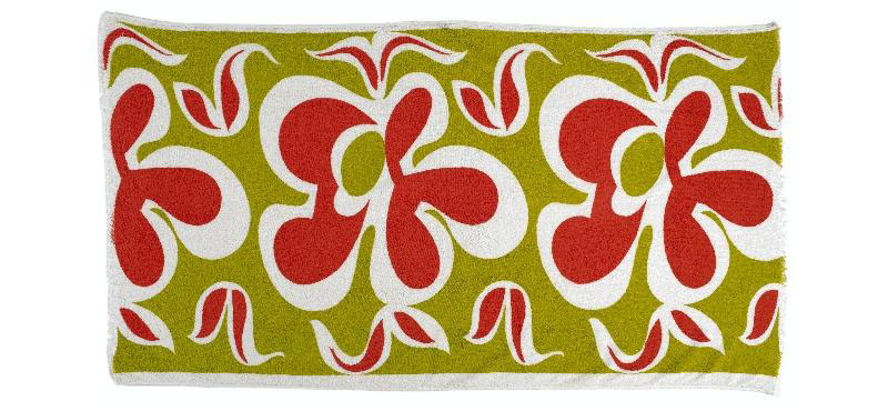 Towel, beach 'Muriwai 3426', 1965, Auckland, by Frank Carpay. Purchased 1998 with New Zealand Lottery Grants Board funds. Te Papa (GH007705)