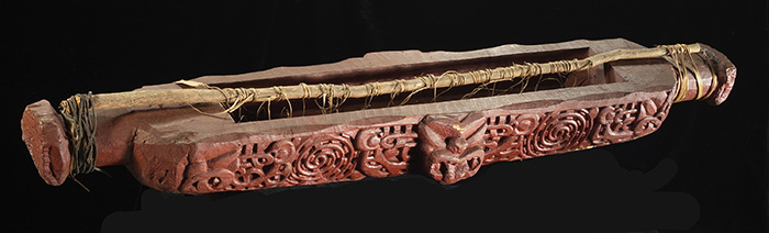 Waka kererū (pigeon trough, snare), 19th century, North Island, maker unknown. Te Papa (ME001973)