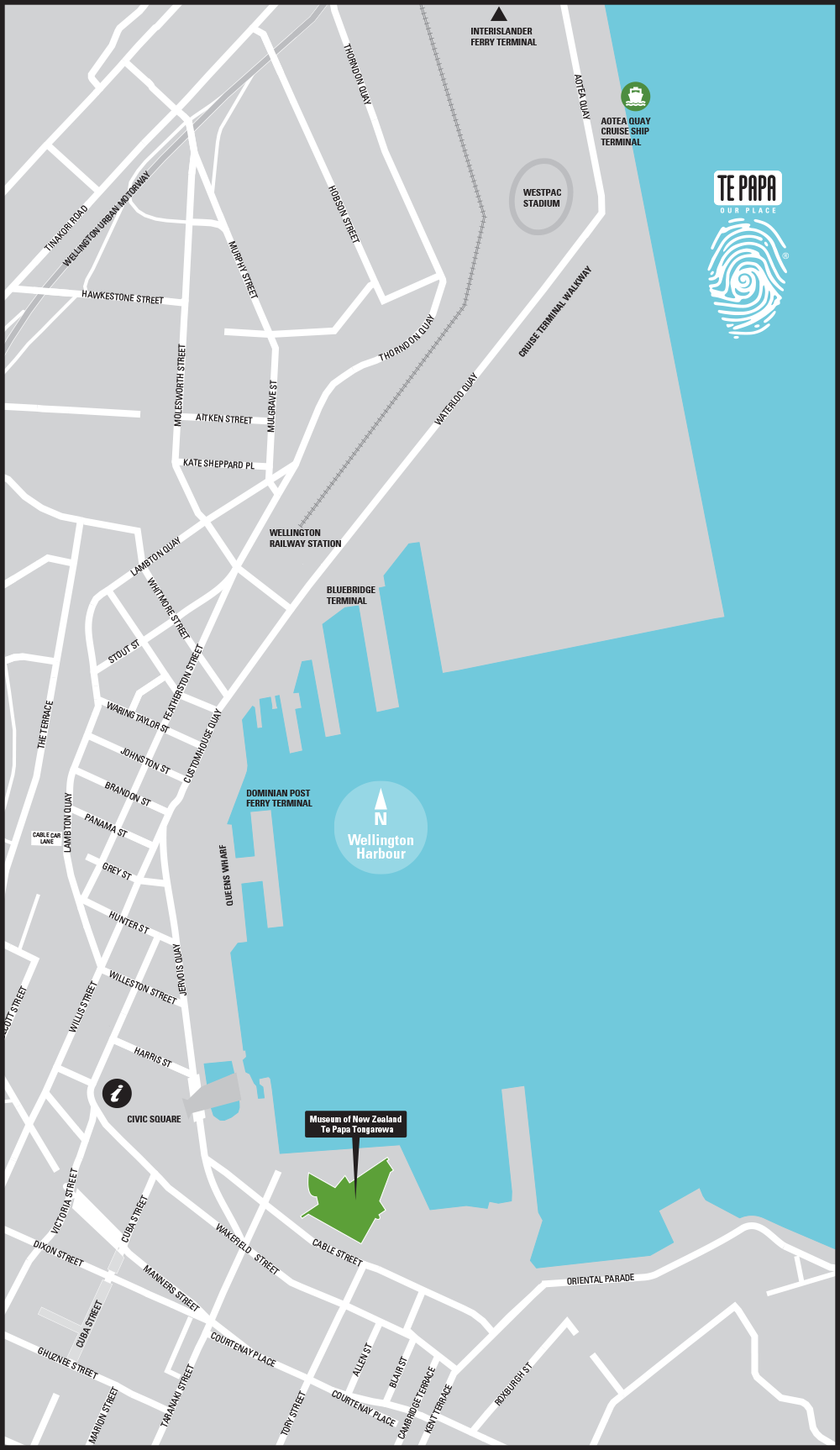 Wellington downtown map 2016
